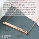 Personalised Bar Necklace Alignment