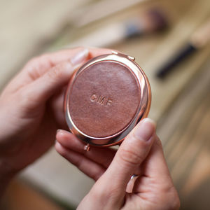 Personalised Rose Gold Compact Mirror - compact mirrors