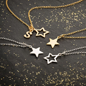 Star Necklace With Personalised Message Card - celestial jewellery