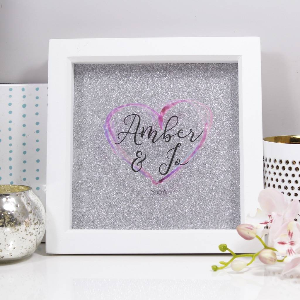 personalised heart frame for couples by olivia morgan ltd ...