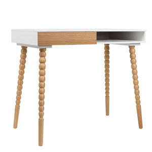 Scandinavian Desk With Stacked Ball Legs - furniture