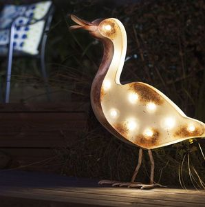 LED Solar Powered Duck - art & decorations