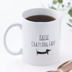 Personalised Dog Lady Mug - mugs