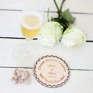 Cheers To Love Personalised Coasters - placemats & coasters
