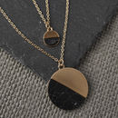 Gold And Black Howlite Stone Layered Necklace