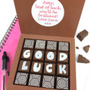 Personalised Message Good Luck Chocolates