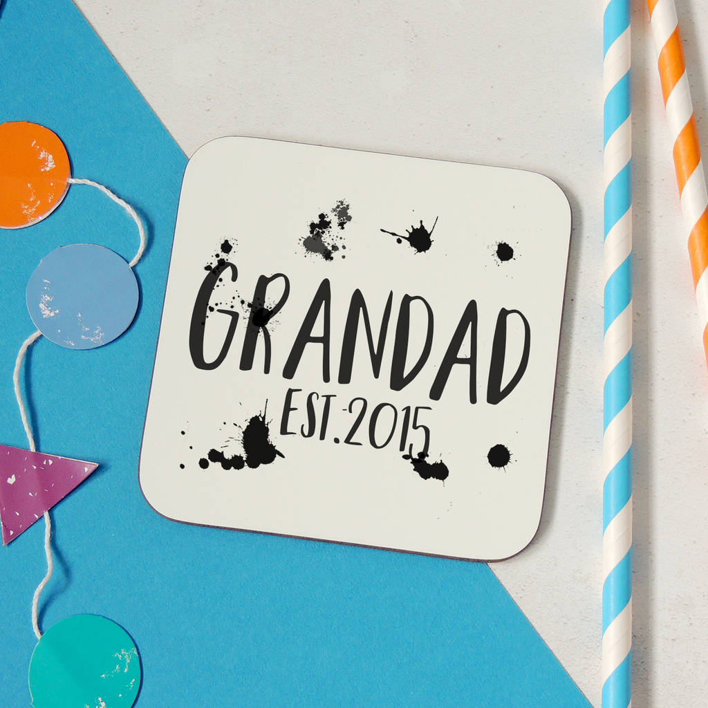 Ink Splat Personalised Grandfather Coaster