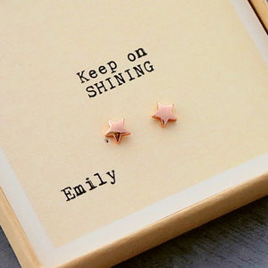 Gift Boxed 'Keep On Shining' Earrings