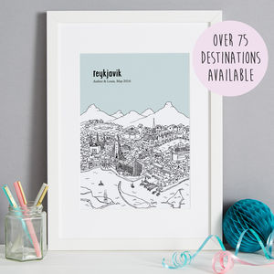 Personalised City Illustration Print - dates & special occasions