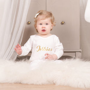 Personalised Angel Wings Sleepsuit
