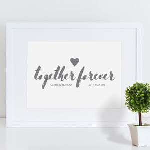 Together Forever Personalised Print - family & home