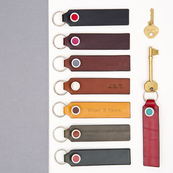 leather key ring fob selection by Johny Todd.