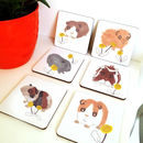 Guinea Pigs Coasters Set Of Six