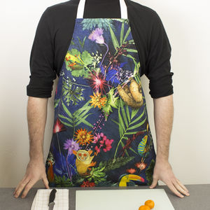 Tropical Animal Cooking And Baking Kitchen Apron Gift - kitchen