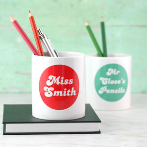 Personalised Colour Pop Pen Pot - desk tidies