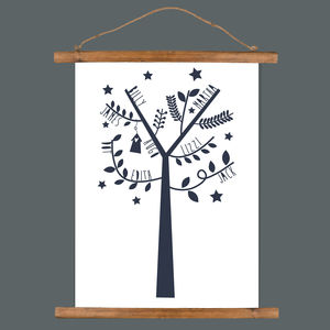 Personalised Graphic Family Tree Print