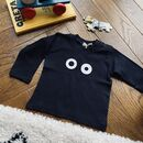 Personalised 'Monster Eyes' Halloween Long Sleeved Top