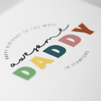 Happy Birthday Best Daddy Personalised Our Town Card