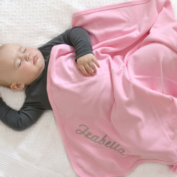 Personalised Pink 100% Cotton Blanket