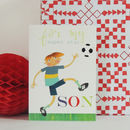 Football Son Greetings Card
