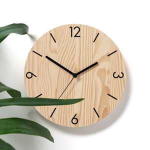 Numbers Wooden Wall Clock - clocks