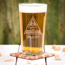 Personalised Creativity Fluid Pint Glass