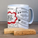 40th Birthday Personalised 1977 Mug