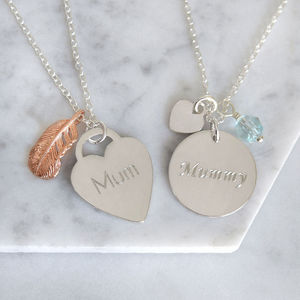 Mum Charms Necklace - jewellery