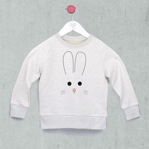 Bunny Face Sweatshirt - clothing