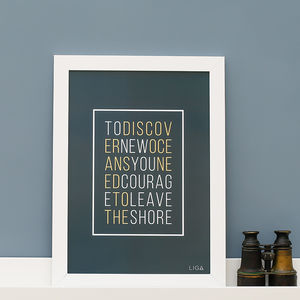 'To Discover' Framed Print - posters & prints