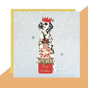'Dalmatian' Christmas Card Pack Of Five Or Single