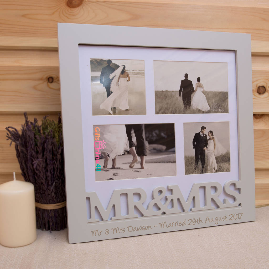 Personalised Mr And Mrs Wedding Photo Frame By Giftsonline4u