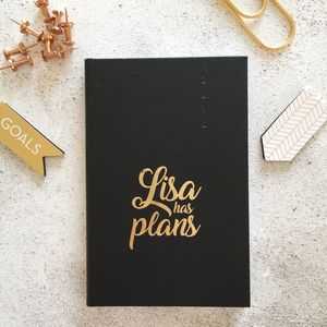 Personalised 'Plans' 2018 Diary - 2018 diaries