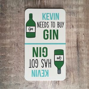 Personalised 'Got Gin' 'Need Gin' Flip Fridge Magnet - new in home