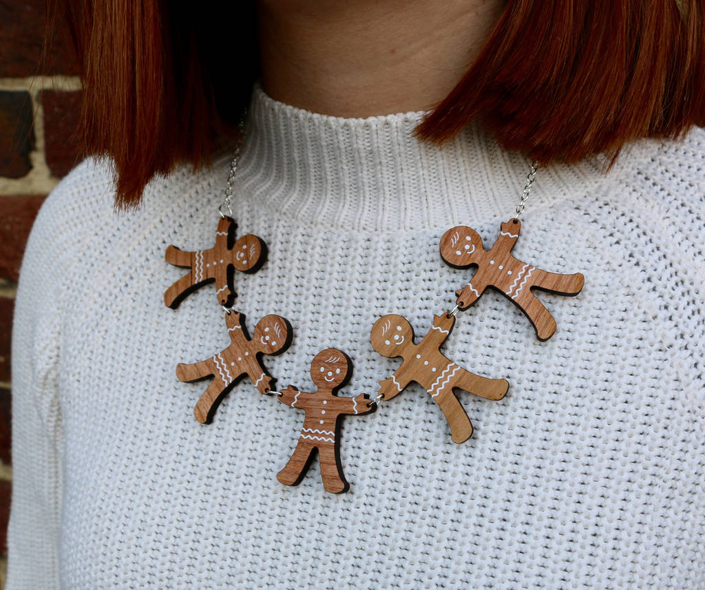 Christmas Scented Gingerbread Man Necklace