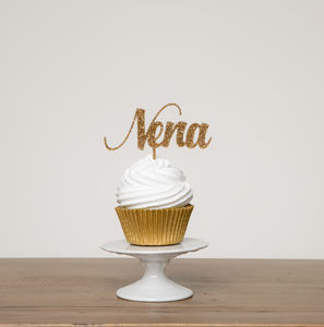 Small Name Cupcake Topper Gift - personalised