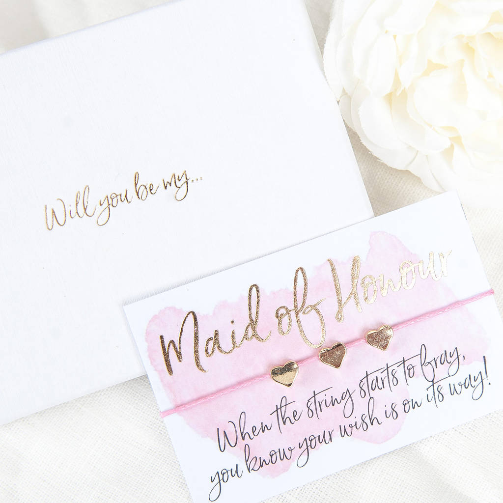 Will You Be My Maid Of Honour Gift Boxed Wish Bracelet