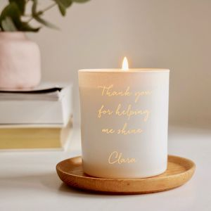 Personalised Thank You Teacher Candle