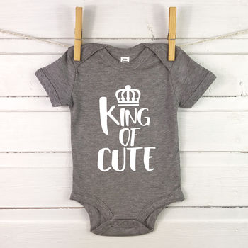 King / Queen Of Cute Royal Babygrow