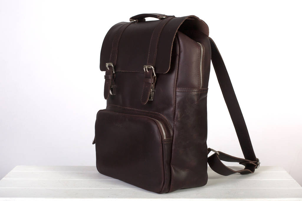 bbb220d5c personalised leather laptop backpack ' ribble ' by niche lane ...