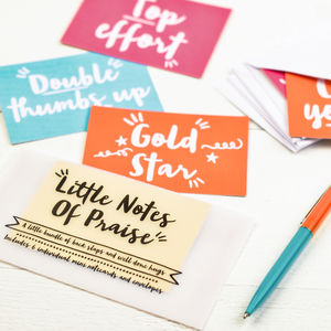 Little Notes Of Praise Set Of Notecards - notelets