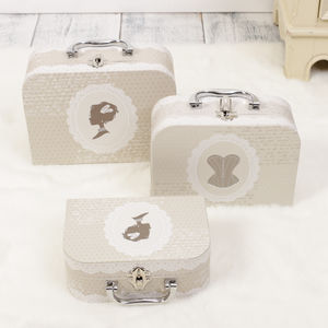 Set Of Three Parisian Style Storage Carry Cases - kitchen