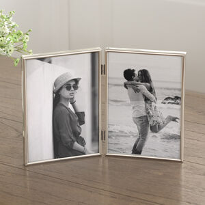 Fine Silver Hinged Double Photo Frame