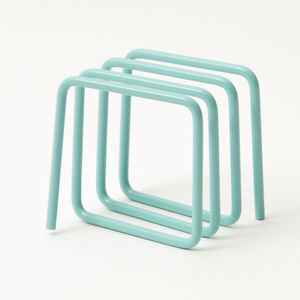 Letter Rack, Blue - magazine racks
