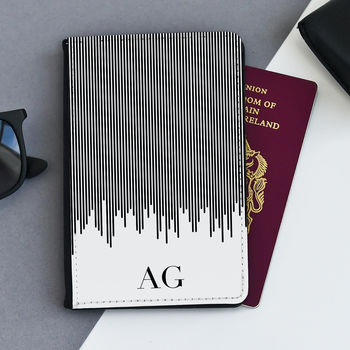 Striped Personalised Passport Case