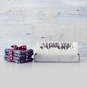 'I Love You' Hidden Message Candle - gifts with hidden messages