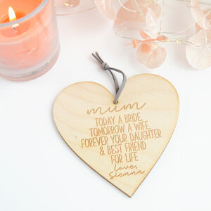 Personalised Mother Of The Bride Wedding Gift