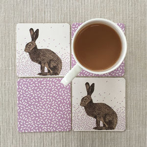 Hare Party Coasters