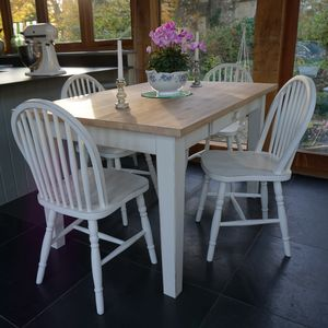 Fonthill Table With Hoop Back Chairs Hand Painted - furniture