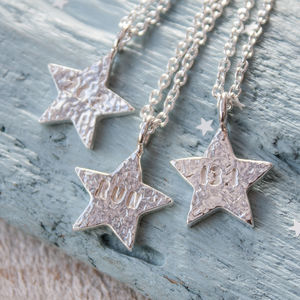 Run Silver Star Necklace - necklaces & pendants